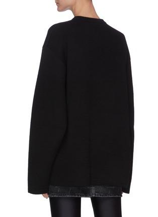 背面 - 点击放大 - BALENCIAGA - 多语言品牌名称混羊毛针织衫