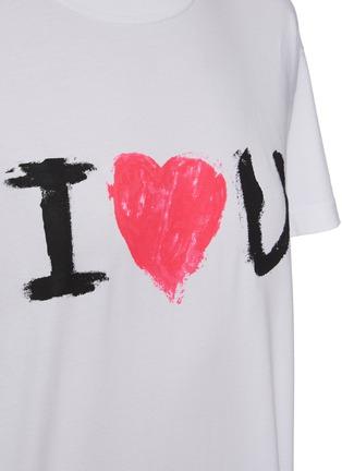 - BALENCIAGA - I LOVE YOU英文字标语纯棉T恤