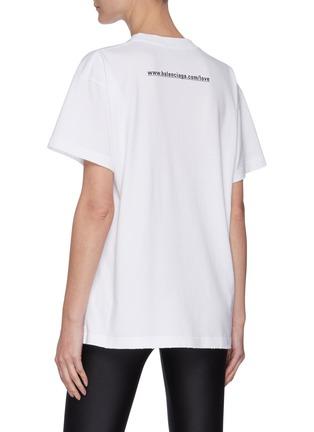 背面 - 点击放大 - BALENCIAGA - I LOVE YOU英文字标语纯棉T恤
