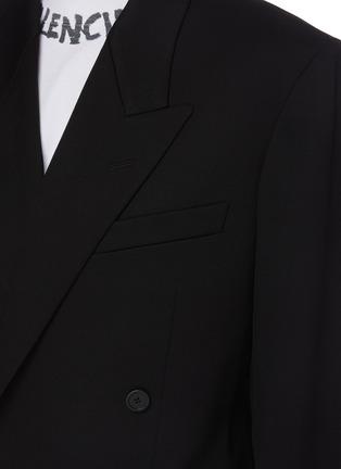 - BALENCIAGA - 中性款枪驳领混羊毛西服式夹克