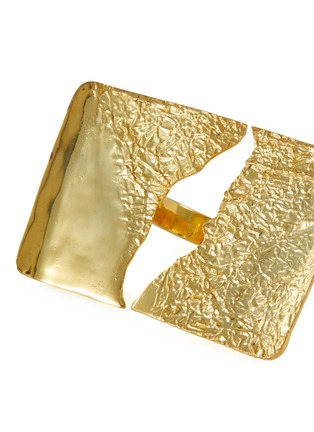细节 - 点击放大 - MISHO - SIERRA镂空几何造型22k镀金金属戒指