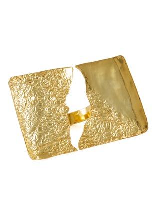 首图 - 点击放大 - MISHO - SIERRA镂空几何造型22k镀金金属戒指