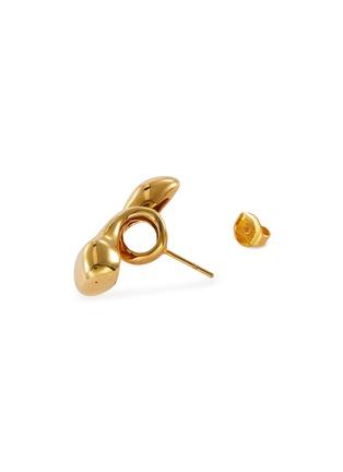 细节 - 点击放大 - MISHO - Pebble Pods 22k金点缀几何造型纯银耳环