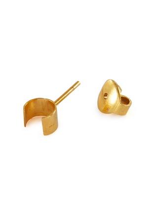 细节 - 点击放大 - MISHO - Minimal/Active Tiny Pods 22k金点缀几何造型纯银耳环