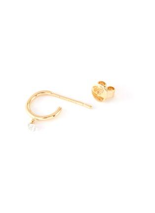 细节 - 点击放大 - PERSÉE PARIS - Be My Baby钻石点缀18k黄金单只耳环