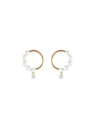 首图 - 点击放大 - PERSÉE PARIS - The Rain Song钻石珍珠点缀18k黄金耳环