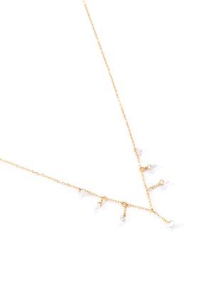 细节 - 点击放大 - PERSÉE PARIS - Danae钻石点缀18k黄金吊坠项链
