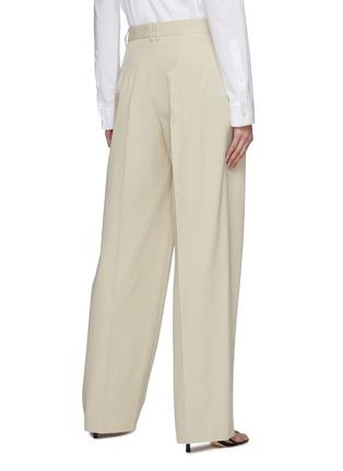 背面 - 点击放大 - THE ROW - 褶裥直脚纯棉西服长裤