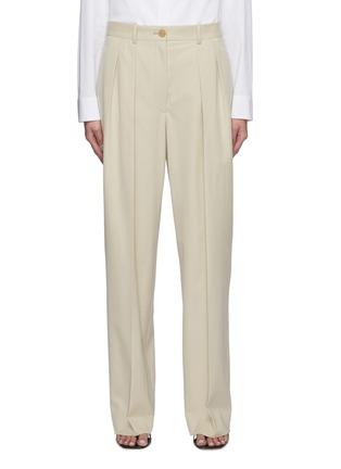 首图 - 点击放大 - THE ROW - 褶裥直脚纯棉西服长裤