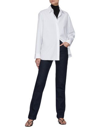 模特儿示范图 - 点击放大 - THE ROW - 直脚水洗棉质牛仔裤