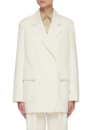 首图 - 点击放大 - THE ROW - 平驳领双排扣棉混亚麻西服外套
