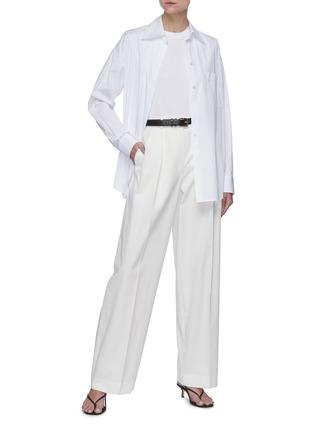 模特儿示范图 - 点击放大 - THE ROW - 圆领纯棉T恤