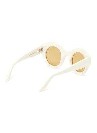 模特儿示范图 - 点击放大 - LAPIMA - VERA圆框板材大阳眼镜