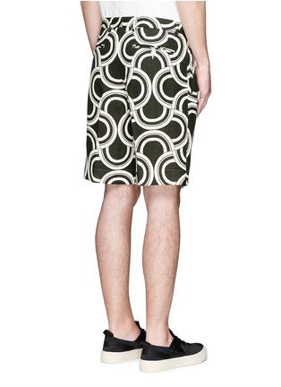背面 - 点击放大 - DOLCE & GABBANA - 螺旋印花亚麻短裤