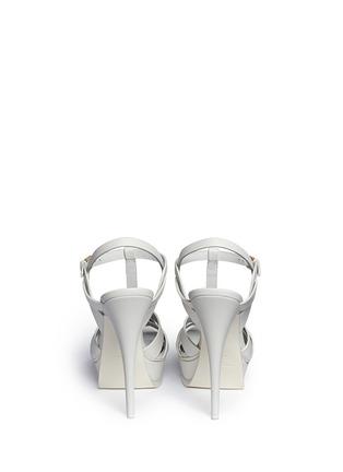 背面 - 点击放大 - SAINT LAURENT - 扭结T字搭带高跟凉鞋