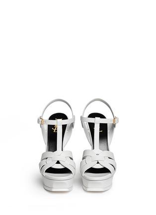 正面 - 点击放大 - SAINT LAURENT - 扭结T字搭带高跟凉鞋