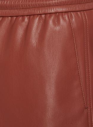 - NANUSHKA - 抽绳仿皮革短裤
