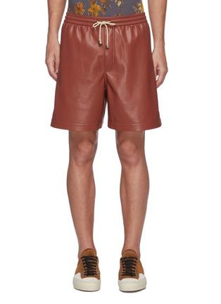 首图 - 点击放大 - NANUSHKA - 抽绳仿皮革短裤