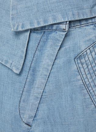 - ALICE + OLIVIA - CHAD不对称裤腰水洗工装牛仔裤