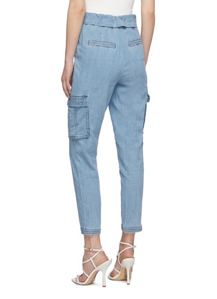 背面 - 点击放大 - ALICE + OLIVIA - CHAD不对称裤腰水洗工装牛仔裤