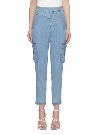首图 - 点击放大 - ALICE + OLIVIA - CHAD不对称裤腰水洗工装牛仔裤