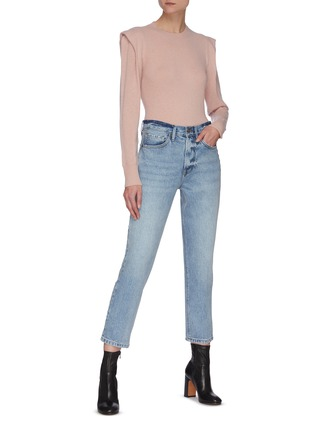 模特儿示范图 - 点击放大 - FRAME DENIM - KENNEDY褶裥羊绒针织衫