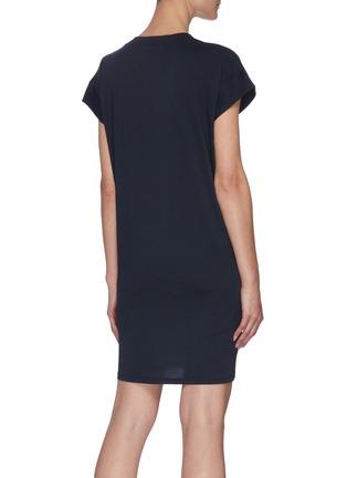 背面 - 点击放大 - FRAME DENIM - V领有机皮马棉连衣裙