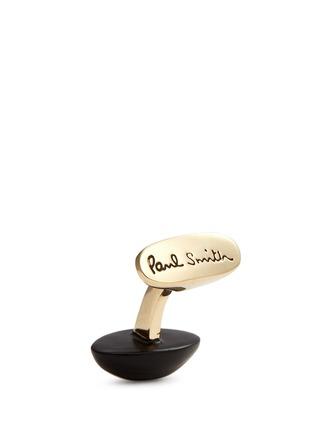细节 - 点击放大 - PAUL SMITH - Enamel American football cufflinks