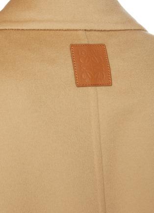 - LOEWE - ANAGRAM logo拼贴腰带混羊毛大衣