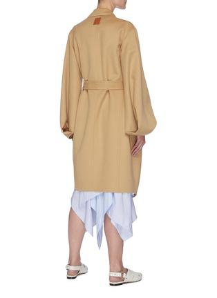 背面 - 点击放大 - LOEWE - ANAGRAM logo拼贴腰带混羊毛大衣
