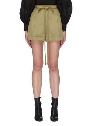 首图 - 点击放大 - LOEWE - 拼色系带纯棉短裤