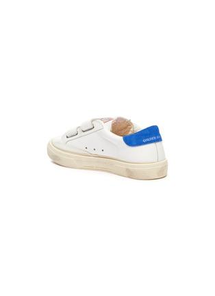 细节 - 点击放大 - GOLDEN GOOSE - MAY SCHOOL儿童款魔术贴搭带做旧感真皮运动鞋