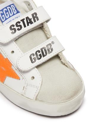 细节 - 点击放大 - GOLDEN GOOSE - OLD SCHOOL幼儿款魔术贴搭带做旧感真皮运动鞋