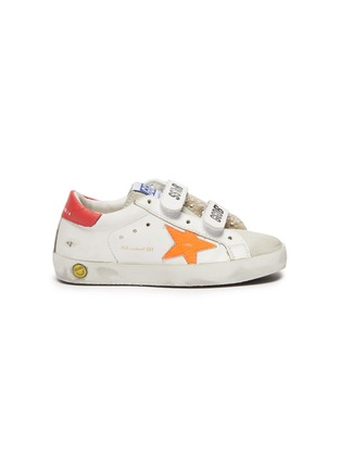 首图 - 点击放大 - GOLDEN GOOSE - OLD SCHOOL幼儿款魔术贴搭带做旧感真皮运动鞋