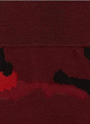 细节 - 点击放大 - VALENTINO - Valentino Garavani迷彩图案袜子