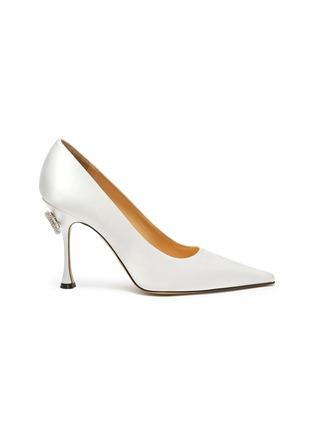 首图 - 点击放大 - MACH & MACH - 仿水晶点缀蝴蝶结缎面高跟鞋