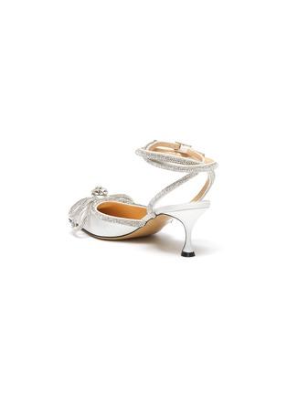 细节 - 点击放大 - MACH & MACH - 搭带仿水晶蝴蝶结闪粉高跟鞋