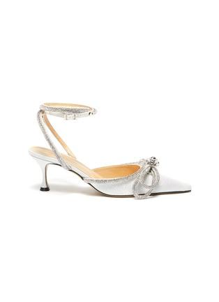 首图 - 点击放大 - MACH & MACH - 搭带仿水晶蝴蝶结闪粉高跟鞋
