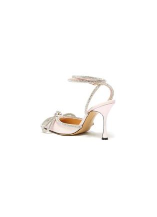 - MACH & MACH - 搭带仿水晶蝴蝶结闪粉高跟鞋