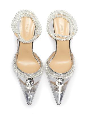 细节 - 点击放大 - MACH & MACH - 仿水晶人造珍珠PVC高跟鞋