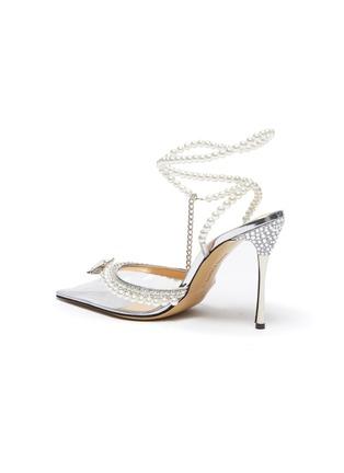 - MACH & MACH - 仿水晶人造珍珠PVC高跟鞋