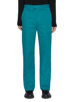 首图 - 点击放大 - BOTTEGA VENETA - 三角形口袋布饰纯棉长裤