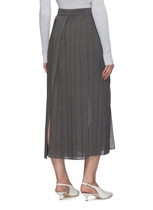 背面 - 点击放大 - BRUNELLO CUCINELLI - 开衩百褶半裙