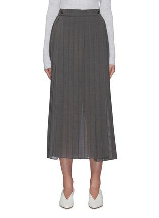 首图 - 点击放大 - BRUNELLO CUCINELLI - 开衩百褶半裙