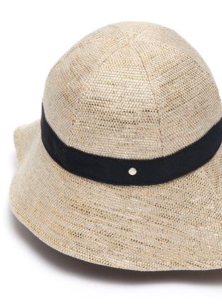 细节 - 点击放大 - MAISON MICHEL - JULIANNE混亚麻渔夫帽