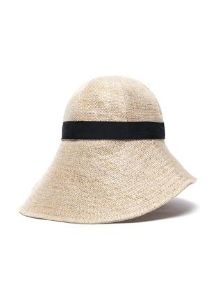 模特儿示范图 - 点击放大 - MAISON MICHEL - JULIANNE混亚麻渔夫帽