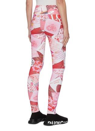 背面 - 点击放大 - BALENCIAGA - 趣味图案及标语棉质紧身裤