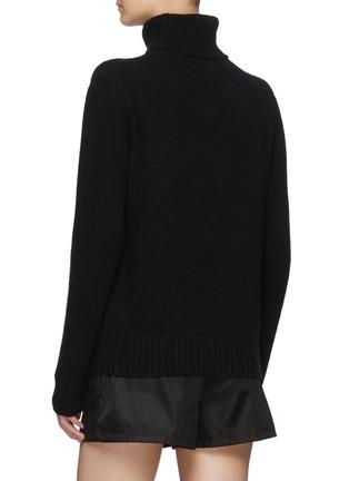 背面 - 点击放大 - PRADA - LOGO初剪羊毛混羊绒针织衫