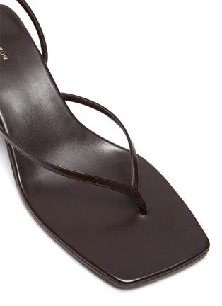 细节 - 点击放大 - THE ROW - Constance真皮露跟凉鞋