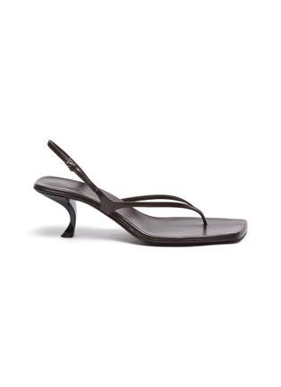 首图 - 点击放大 - THE ROW - Constance真皮露跟凉鞋